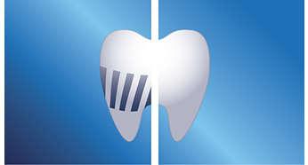 Usuwa więcej płytki nazębnej niż zwykła szczoteczka do zębów