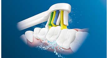 Poprawa zdrowia dziąseł taka jak przy stosowaniu nici dentystycznych — potwierdzone klinicznie**