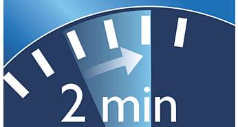 2-minutowy zegar motywuje do szczotkowania zębów przez zalecany czas