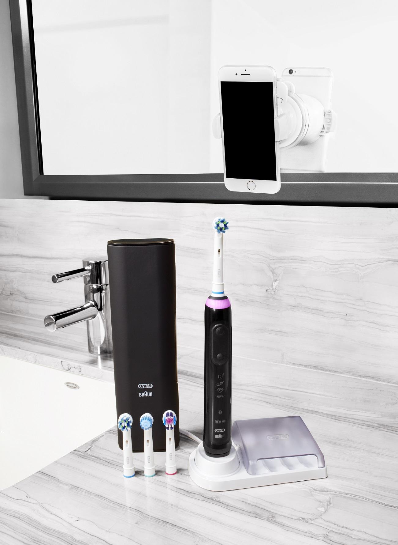 Braun Oral-B szczoteczka elektryczna GENIUS PRO 9000 Black - Czarna D701.545.6XC <b>z Bluetooth + 4 końcówki </b>