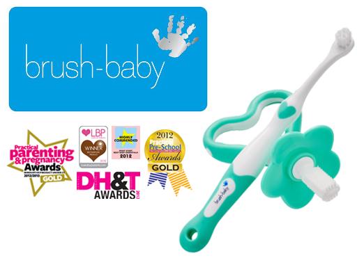 BRUSH-BABY - zestaw na ząbkowanie dla dzieci wieku 0-18 miesięcy