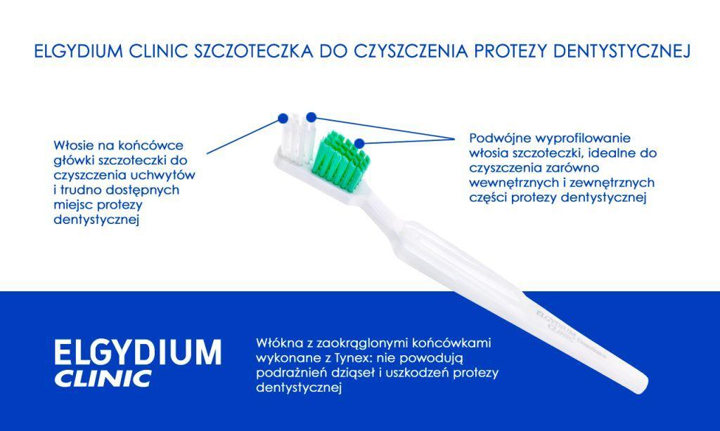 Elgydium Clinic szczoteczka do czyszczenia protezy dentystycznej